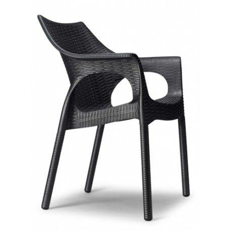 Plastová židle OLINA V TREND Antracit