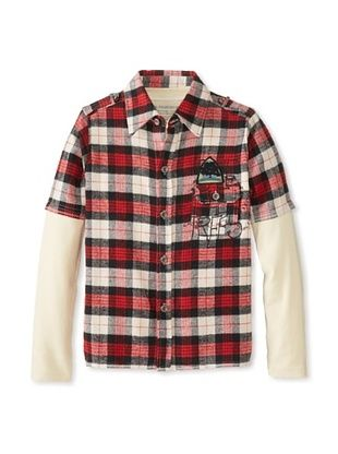 86% OFF Alpha Industries Boy's Luray Twofer (Red)