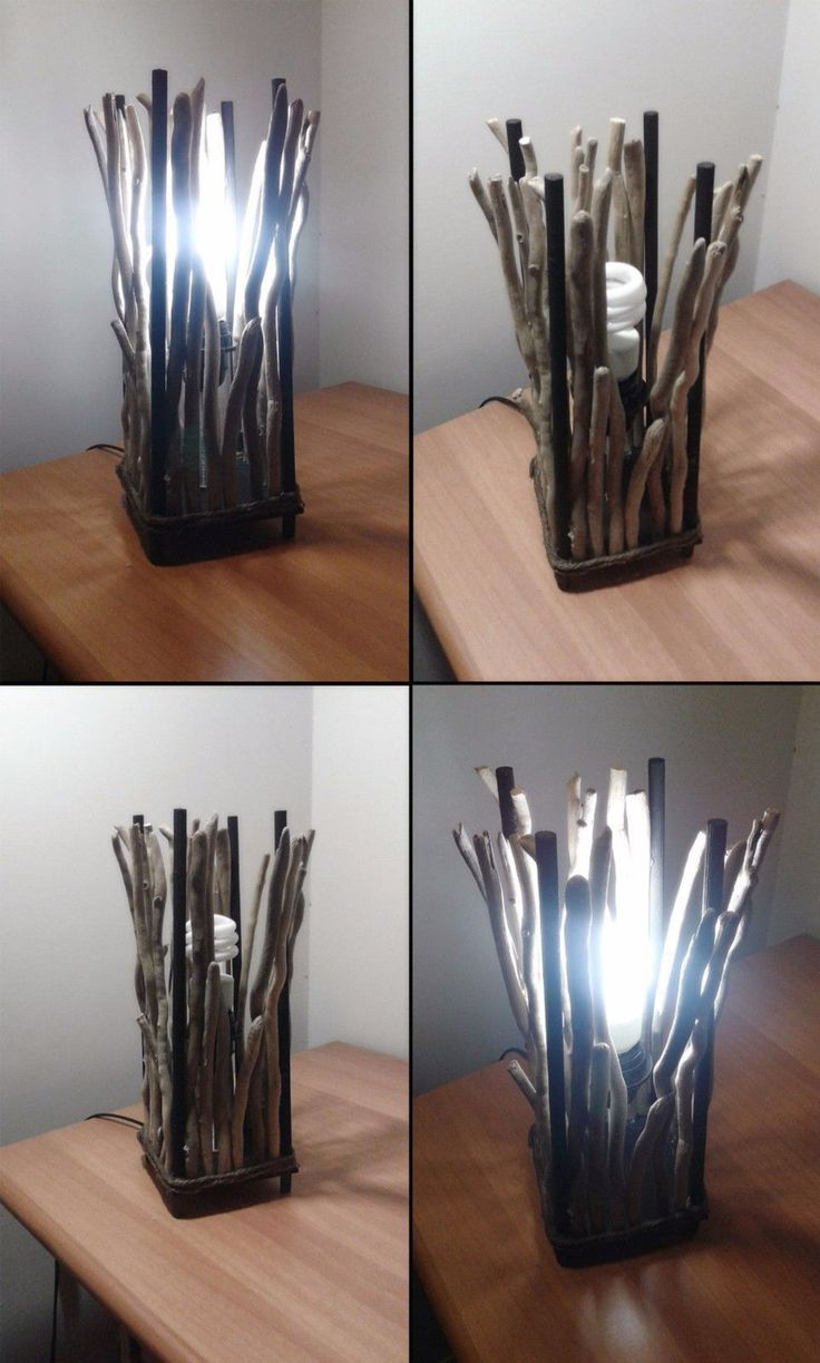Lampada Lume artigianale in legno marino da tavolo, scrivania o comodino Shabby Chic ,driftwood lamp design rustico per arredamento classico di VintageShop2016 su Etsy