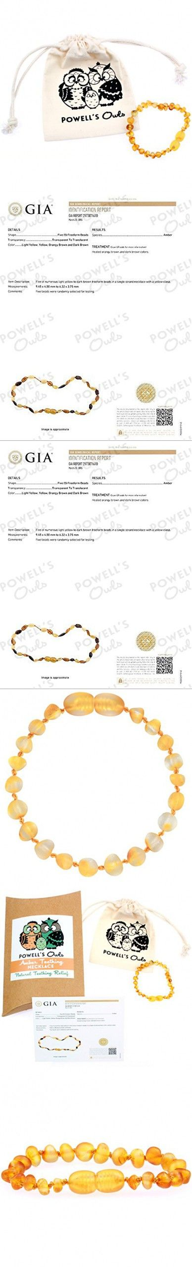 Baltic Amber Teething Bracelet or Anklet for Babies, Toddlers, and Kids - Lab-Tested - Raw Unpolished Honey - 5.5 Inches