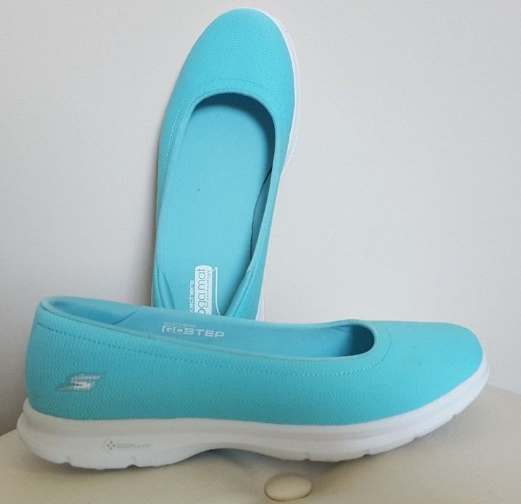 Skechers GO STEP Luxe Slip on Ballet Pump with Goga Mat Technology, 4/37, Aqua #Skechers #Ballerinas