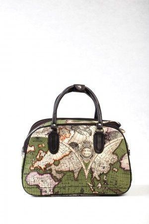 Σε 3 μεγέθη, Μεγάλο, Μεσαίο και Μικρό.                                  Τσάντα χειρός και ώμου, μπεζ με παγκόσμιο χάρτη.  Ταξιδιού και επαγγελματικής χρήσης (για κομμώτριες, αισθητικούς κλπ)