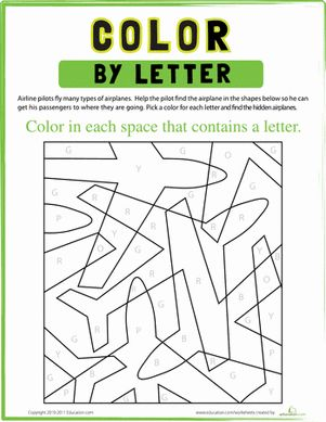 color by letter the alphabet shape and hidden pictures. Black Bedroom Furniture Sets. Home Design Ideas
