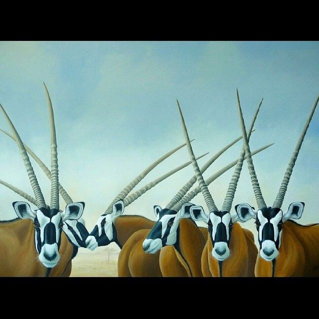 GEMSBOK the last in my African Treasures series. A large 140cm x 100cm #acrylicpainting http://instagram.com/p/rJryyDQYmY/?modal=true #nawden #triplesartists #fineart #topworkofart #deviantartist_ #wildlife #world_art_sharing #BESTDM #africananimals #africa #gemsbok #antelope #artistmafia #artlovers #art_of_instagram #modernart #dailyart #artfido #artofdrawingg #artcollective #Artist_features #nature #draws_by_l_i #art_of_instagram #deviantart