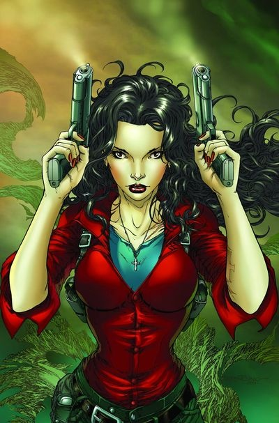 Anita Blake from the Laurell Hamilton series, my all time favorite vampire series and before it turned into just sex and no hunting it was epic.