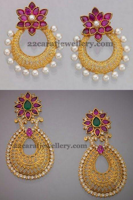 Jewellery Designs: Uncut Floral Chandbalis