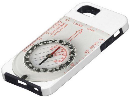 Orienteering compass cover