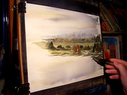 Watercolour Landscape Painting Demonstration featuring River Wye in Derbyshire