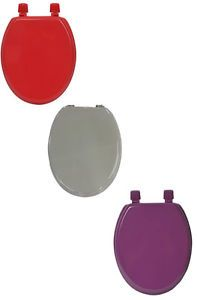 a evideco elongated toilet seat solid color red purple wood 175l x 1475w