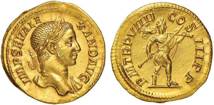 NumisBids: Nomisma Spa Auction 50, Lot 31 : ROMA IMPERO Alessandro Severo (222-235) Aureo - Testa laureata a d....