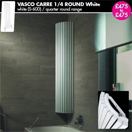 """White Radiator - """"Vasco Carre Blanco"""" - White Vertical Upright Designer Radiator for a Central Heating System."""