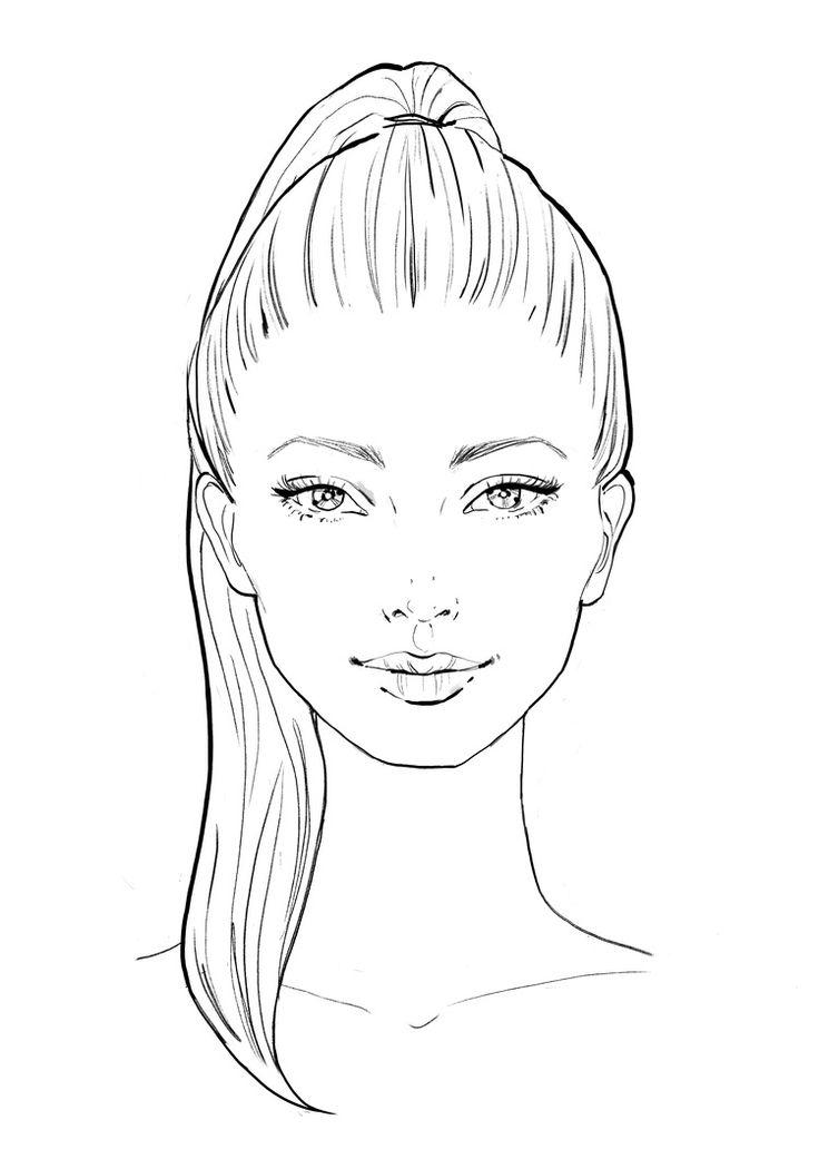 раскраска лицо человека для макияжа нас