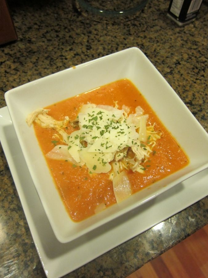 Amazingly Easy Tomato Soup with Chicken