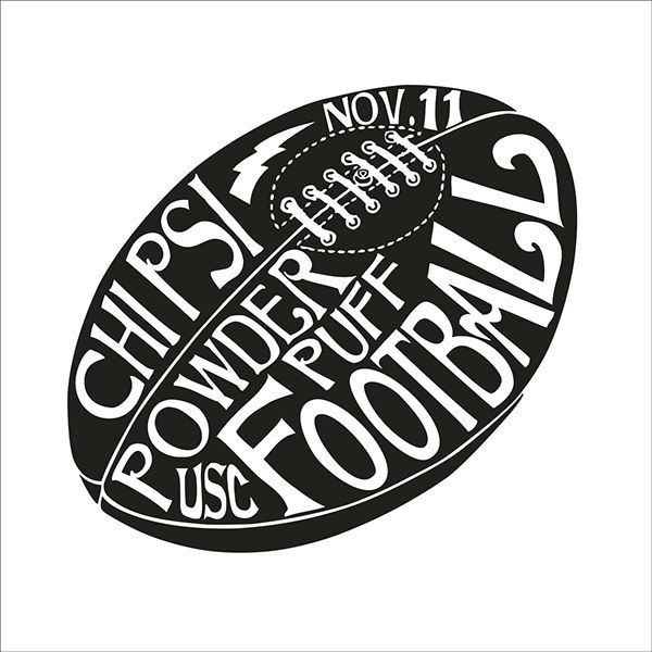 t shirt design for chi psi fraternitys powder puff football tournament - Football T Shirt Design Ideas