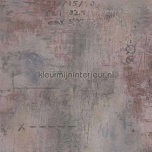 Verweerd metaal met opschrift behang 95390-1 uit de collectie Decoworld van AS Creation voordelig bij kleurmijninterieur