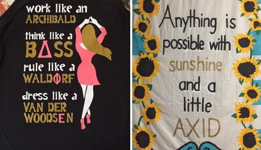 —  super sorority sayings BY CHAPTER for tee shirts...
