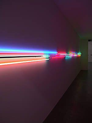 Christian Herdeg - Lichtschleuse II, 2007 - Neon and argon light tubes - Total length 12 m