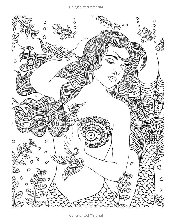 MERMAIDS And Other Doodles Coloring Books For Adults Lovink