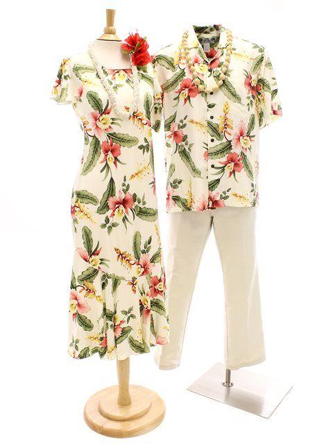 [Exclusive]TP 950R Long Dress [Sonic/Beige] - Long Dresses - Hawaiian Dresses   AlohaOutlet SelectShop