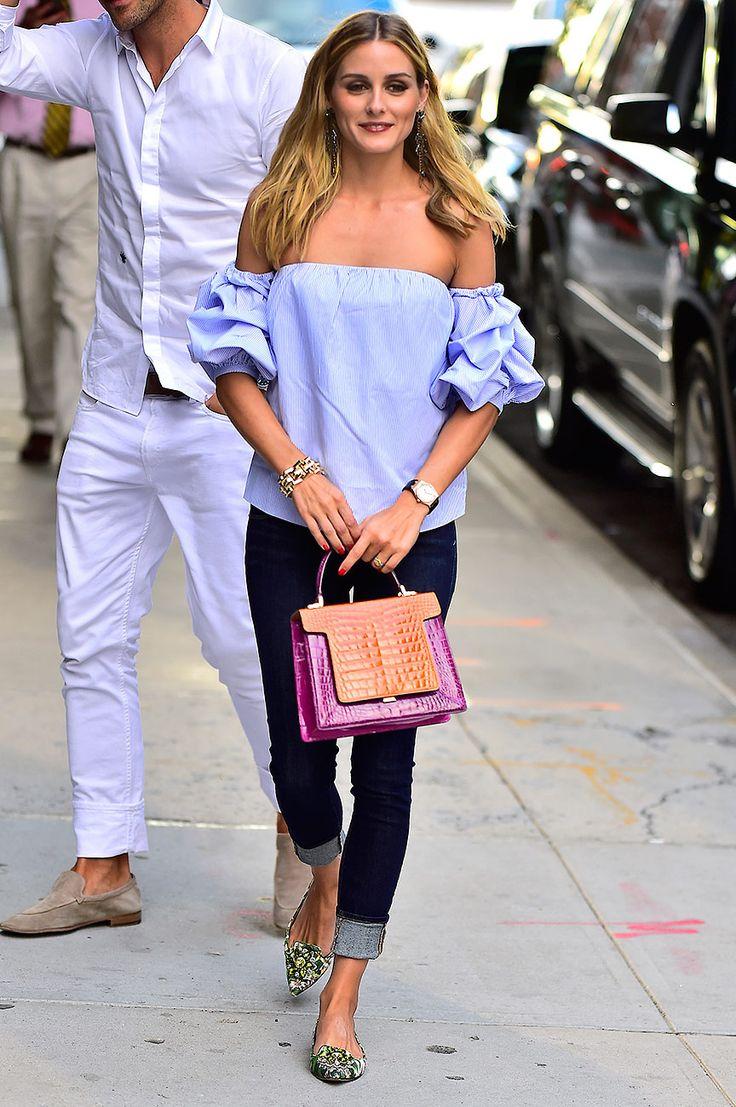 Los mejores looks al descubierto @OliviaPalermo con blusa de @JohannaOrtiz