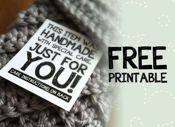 Free Craft Printable Label: