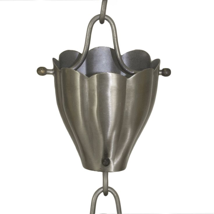 Stainless Steel Fluted Cup Rain Chain                                                                                                                                                     Más