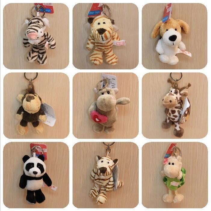 1 шт. 9 см ники плюшевые игрушки куклу высококачественные небольшой кулон животные брелок подарок для детей