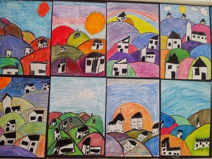 KIRKEBY: Sådan tegner du bakker og huse....