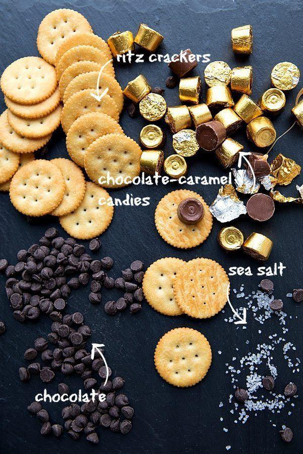 Chocolate Caramel Ritz Bites