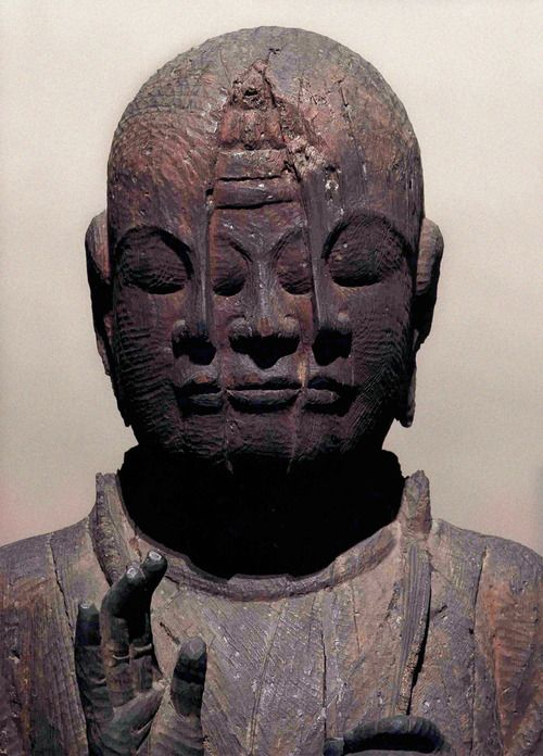 the buddha-nature within begins to show through the outer body/personality.   (Internal Avalokiteśvara,  Kyoto National Museum)