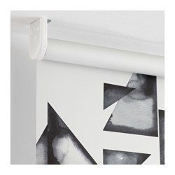 IKEA - IKEA PS 2017, Store à enrouleur occultant, Le store enrouleur occultant comporte un revêtement spécial qui ne laisse pas passer la lumière.Se monte à l'intérieur ou à l'extérieur du cadre d'une fenêtre, ou au plafond.Le store est dépourvu de cordons pour augmenter la sécurité des enfants.Vous pouvez couper le store (de 200 mm max.) pour adapter la longueur souhaitée à l'intérieur du cadre de la fenêtre.