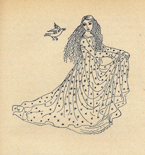 Václav Říha: Pohádky (Fairy Tales)  Illustrated by Milada Marešová. Prague 1953. (via josefskrhola's flickr)