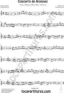 Flauta dulce Versión Fácil Partitura del Concierto de Aranjuez Sheet Music for…