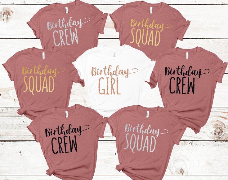 Birthday group shirts birthday crew shirts birthday squad