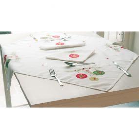 Festoon Christmas tablecloth topper · LinensBeddingBedding SetsLinen Duvet  sc 1 st  Pinterest & 13 best Christmas Table Linen images on Pinterest   Christmas table ...