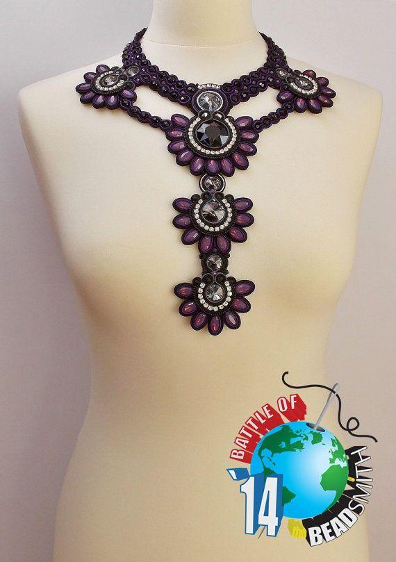 Soutache NecklaceSoutache jewelrySoutache by beadsbyPanka on Etsy, Ft124000.00