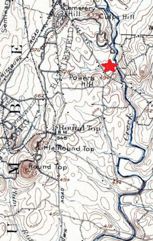 This map gives an idea of Rock Creek's winding path east of Gettysburg. Learn more about this creek and its role in the battle and aftermath: http://gazette665.com/2016/01/19/by-the-banks-of-rock-creek/