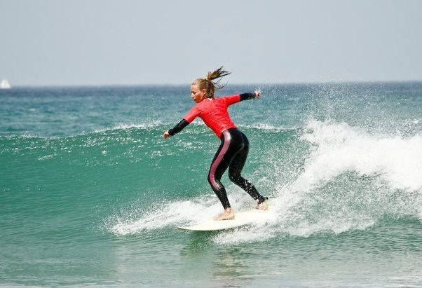 Talented surfer from Slovakia, Michaela Kancevova.