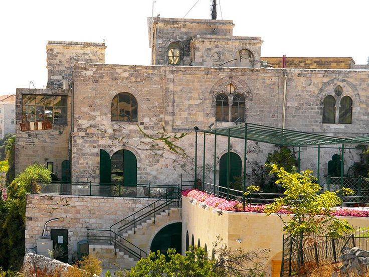 Jerusalem, Israel - Architecture, Mount Zion Hotel, near Hebron Road, cable car at left