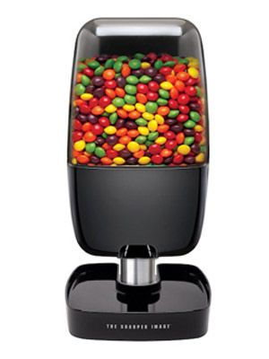 Valentine Goodies for Him Under $50:  A Candy Machine - Fill it with red hots or hot tamales for your man. Then just wave your hand, and motion detectors will dispense candy