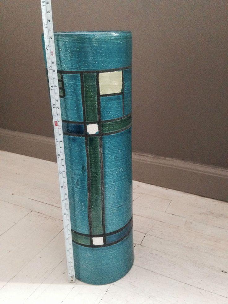 Bitossi aldo londi mondrian ceramic vase italy raymor for Mondrian vase