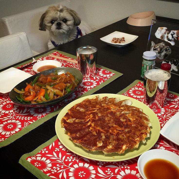 今夜の貴族の晩餐はなんちゃって酢豚と羽根つき餃子をヤラカシたよ( ) ではでは( ω)( ω)かんぱーい by mayuge0807