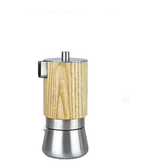 LUNIKA senza manico è una #moka, non ha il manico, la tazza raccogli #caffè è rivestita in legno(*) ed ha scelto MOGI.  (*)il legno permette di impugnare la moka senza scottarsi, superando e stravolgendo l'idea di manico  LUNIKA senza manico, #design by Francesco Fusillo, è il progetto vincitore di un concorso che promuove la ricerca storica sui processi di industrializzazione, la conservazione della cultura della produzione e l'identità del territorio del Cusio.