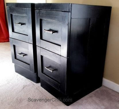 mismatched metal file cabinets get a makeover, diy, home office, painted furniture, repurposing upcycling, woodworking projects