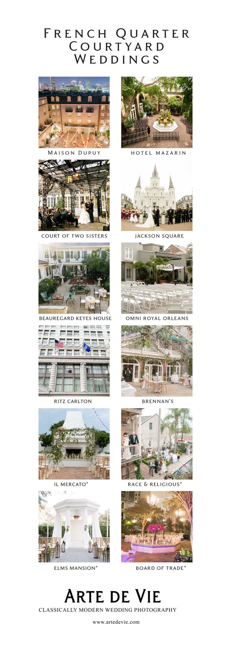 New Orleans Best French Quarter Courtyards for Weddings  Your must see guide for New Orleans Weddings!