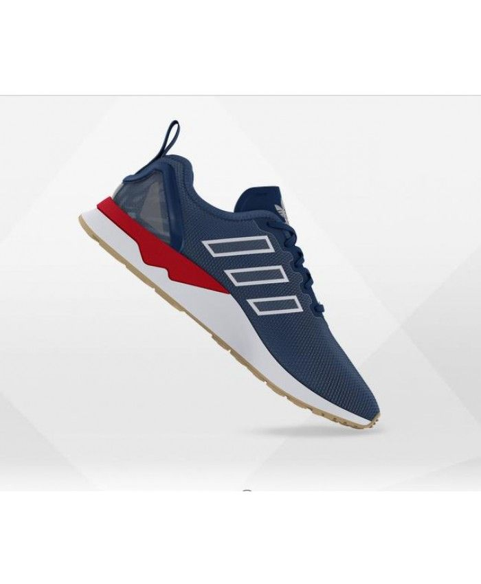 4f58cc5e2ee Adidas Zx Flux Adv Mens Mesh Shadow Blue Shoes