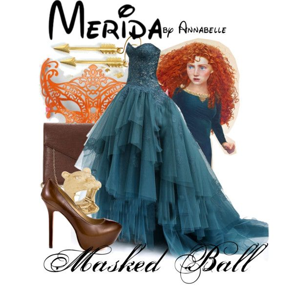 Brave - Masked Ball - Merida formal outfit by annabelle-95 on Polyvore featuring Report and Masquerade