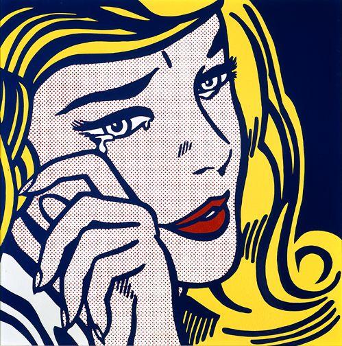 Crying girl - Roy Lichtenstein, 1964. Style: Pop Art. (Milwaukee Art Museum, Milwaukee, Wisconsin, USA)