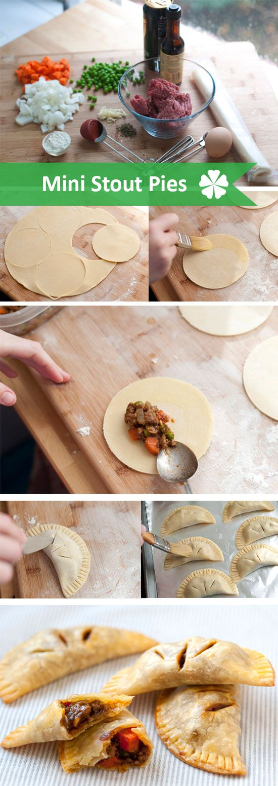 Mini Stout Pies... a good Irish appetizer