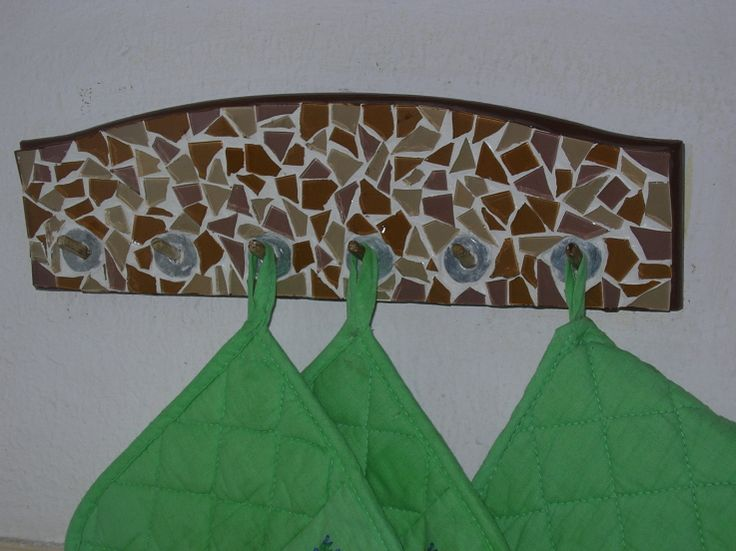Dish Cloth Holder in glass mosaic tiles